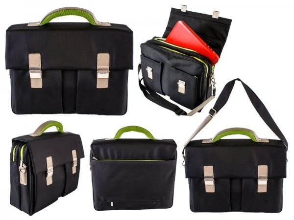 Black-Green Elegant Office Nylon Briefcase