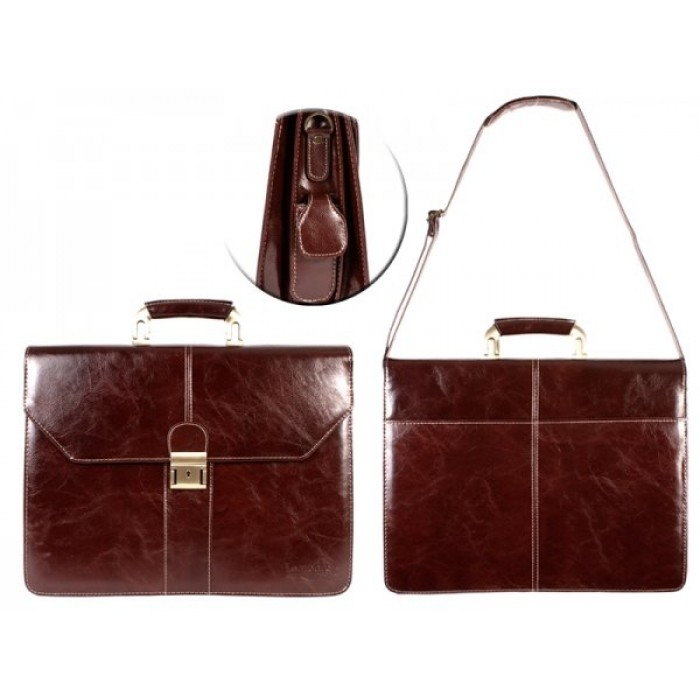 Brown-Wine London PU Executive - Laptop Case