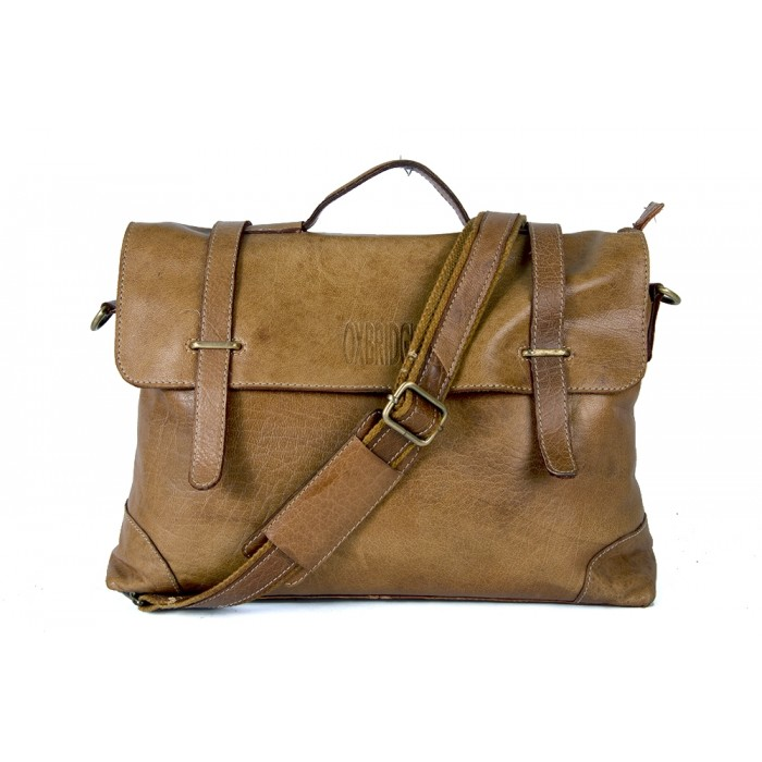 Olive Hunter Oxbridge Messenger Shoulder Bag - Handleable