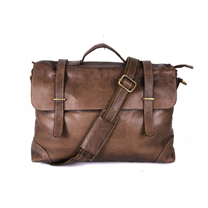 Brown Hunter Oxbridge Messenger Shoulder Bag - Handleable