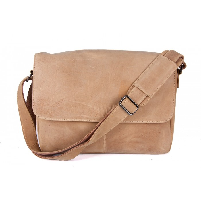 Tan Hunter Oxbridge Messenger Shoulder Bag