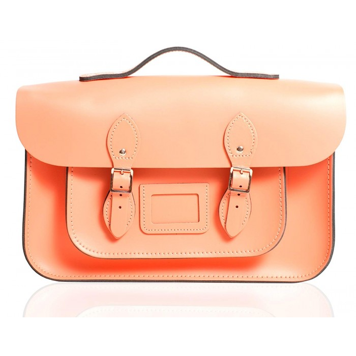 "12"" Coral Reef English Leather Satchel - Handleable"
