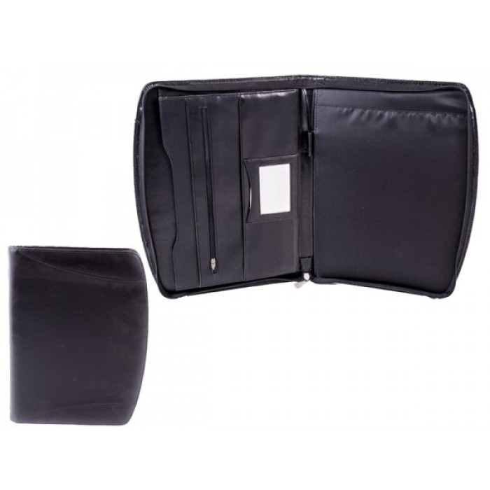 Black Leather Tablet Folio